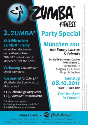 2. ZUMBA® Party Special München 2011
