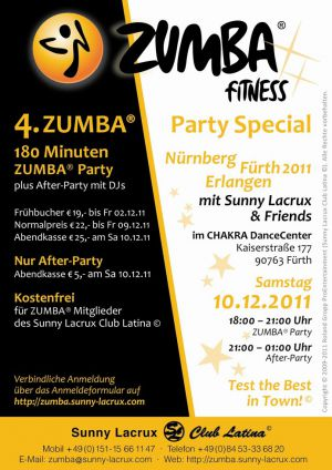 4. ZUMBA® Party Special Fürth 2011